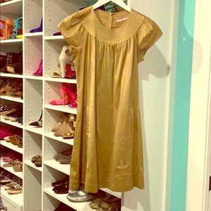 Calypso gold dress, size small